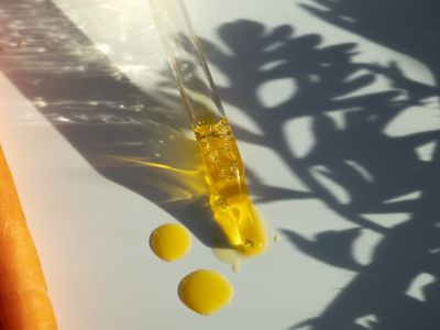A dropper of carrot oil