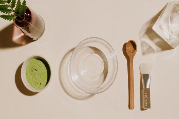ingredients to make green tea face mask