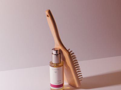 oil bottle and brush