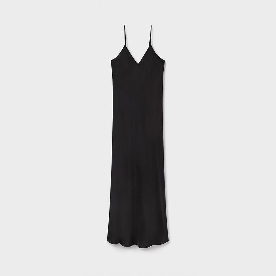 Silk Laundry '90s Slip Dress Black