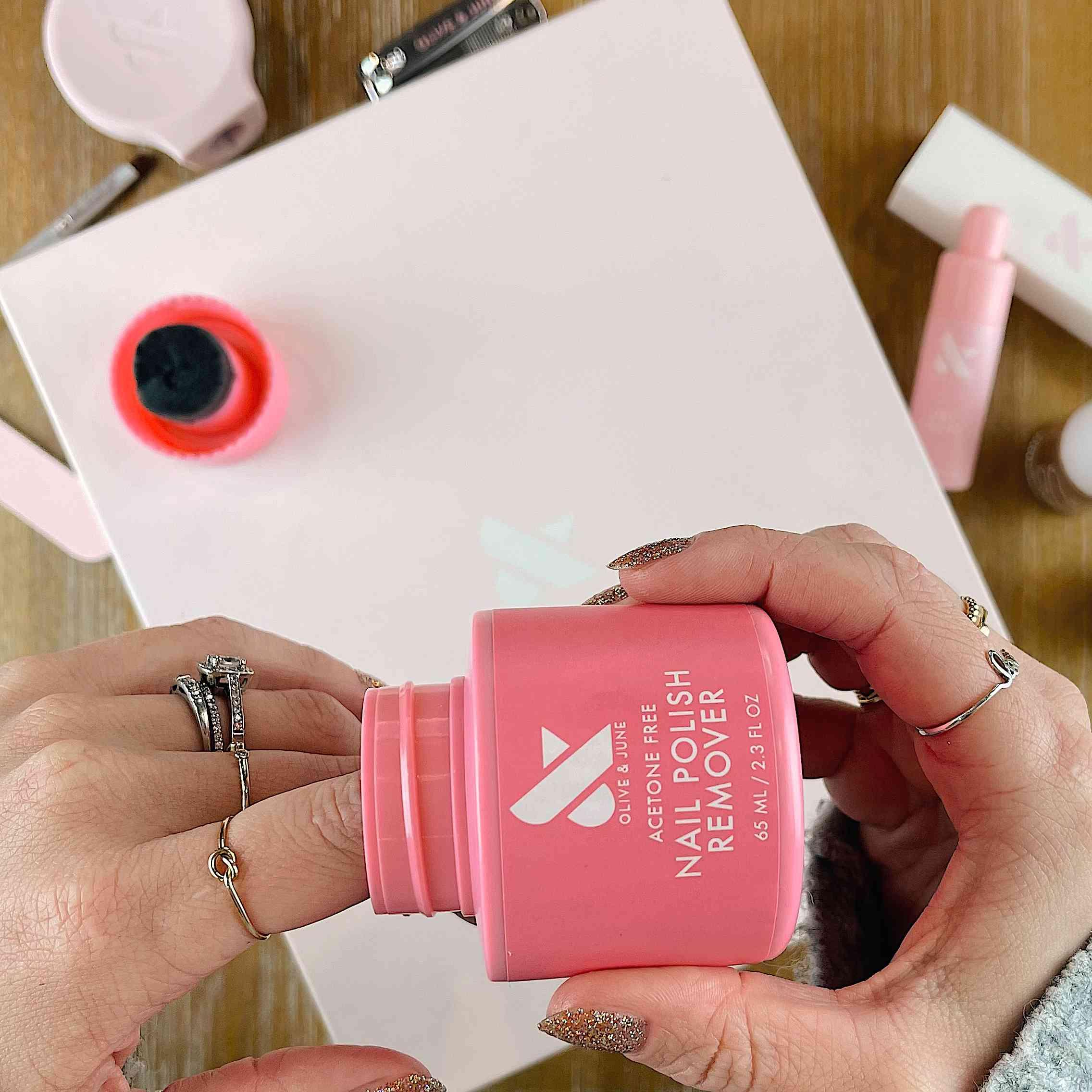 Dip into nail polish remover