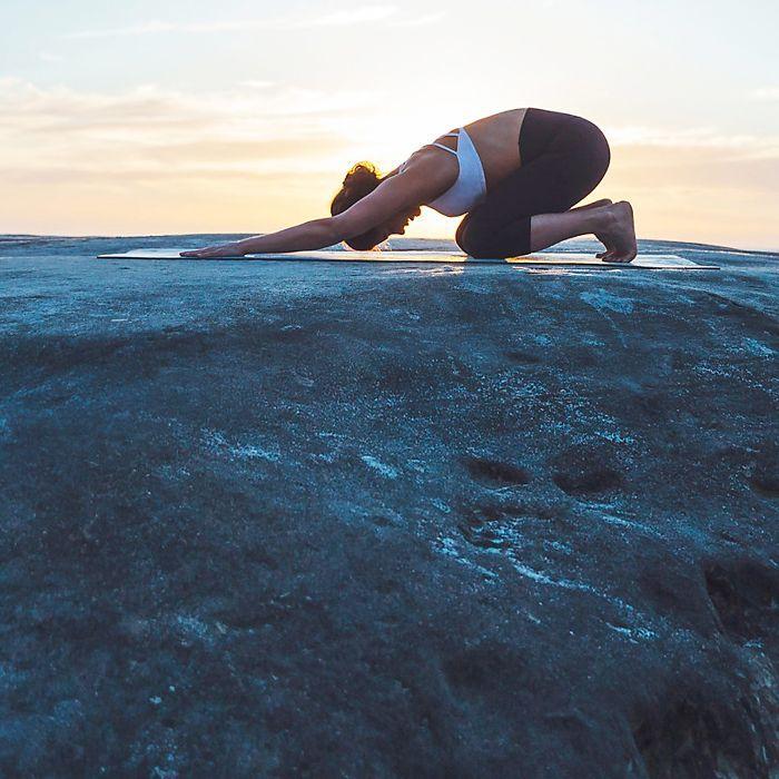 Yoga Benefits: woman doing yoga