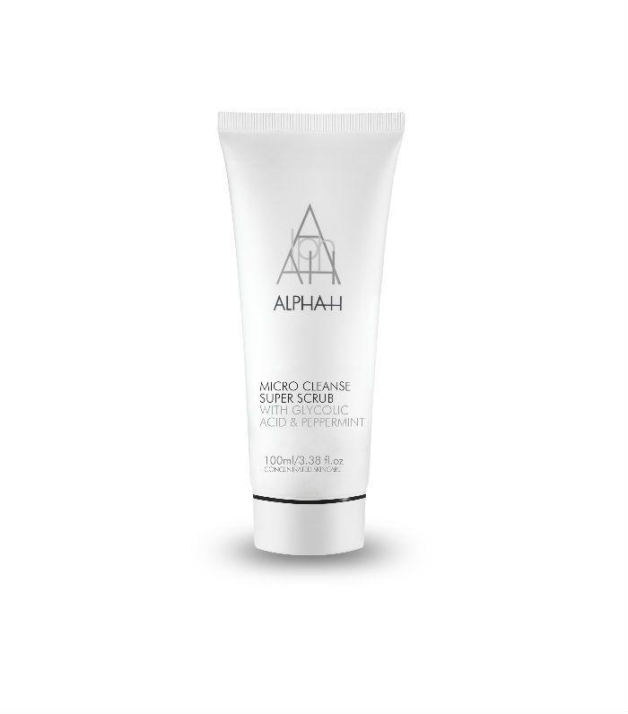 Caffeine in skincare: Alpha-H Micro Cleanse Super Scrub
