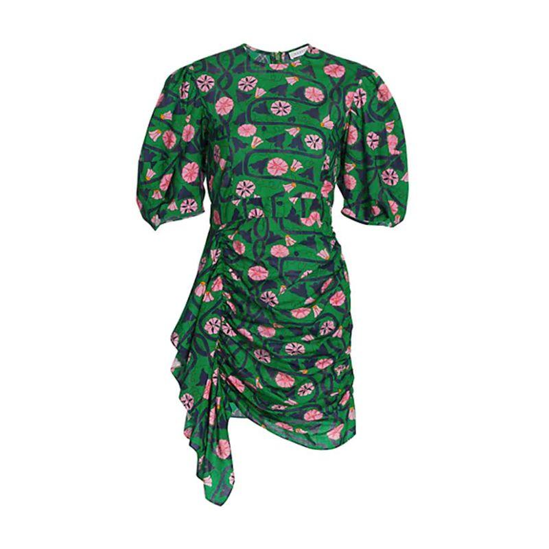 Pia Puff-Sleeve Cotton Dress