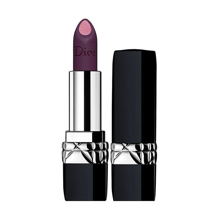 best bold lipstick and blusher: Dior Rouge Double Rouge Lipstick in Poison Purple