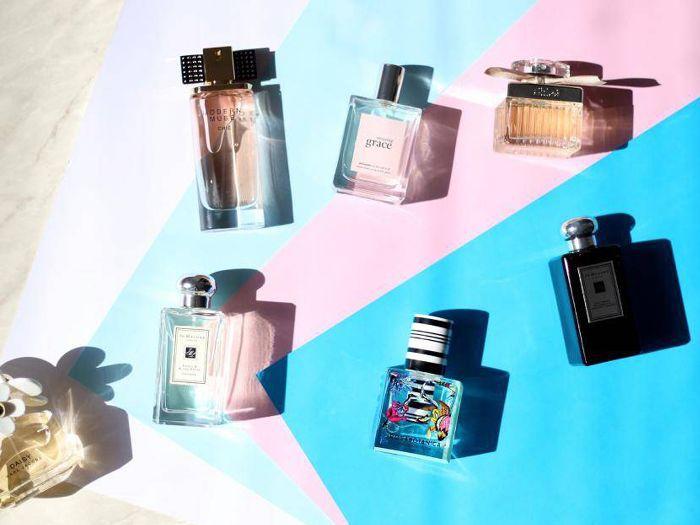 Fragrance flatlay