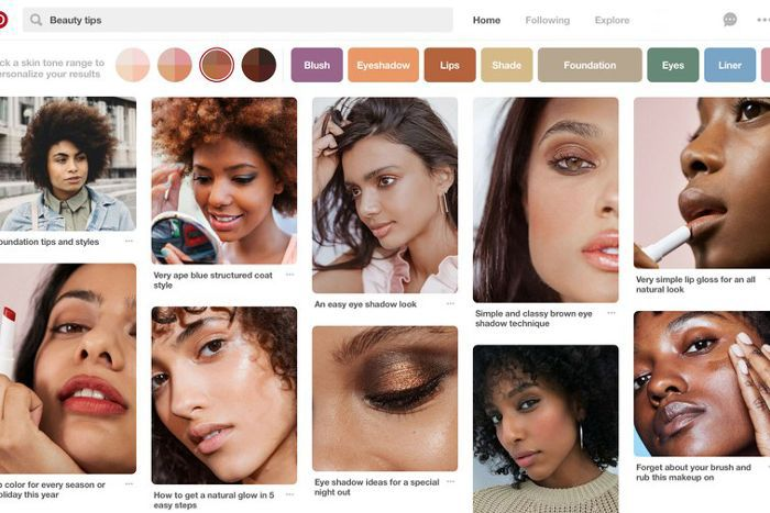 How to search by skin tone on Pinterest
