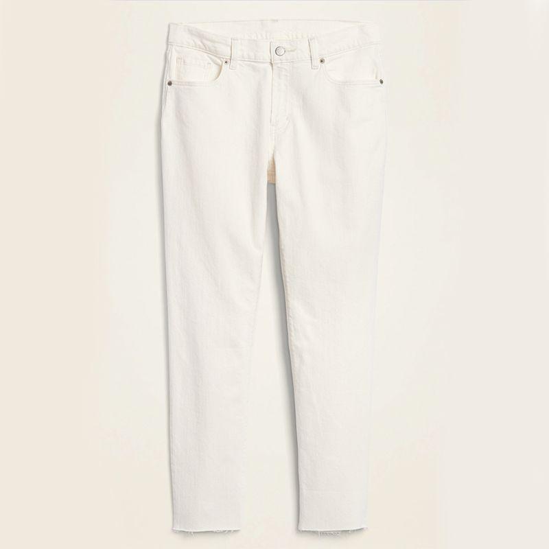 Boyfriend Straight Cut-Off Jeans