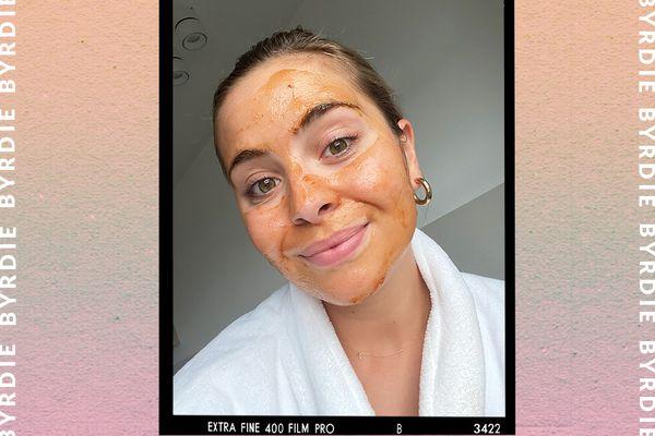 Fresh Rose Face Mask on Emily Algar