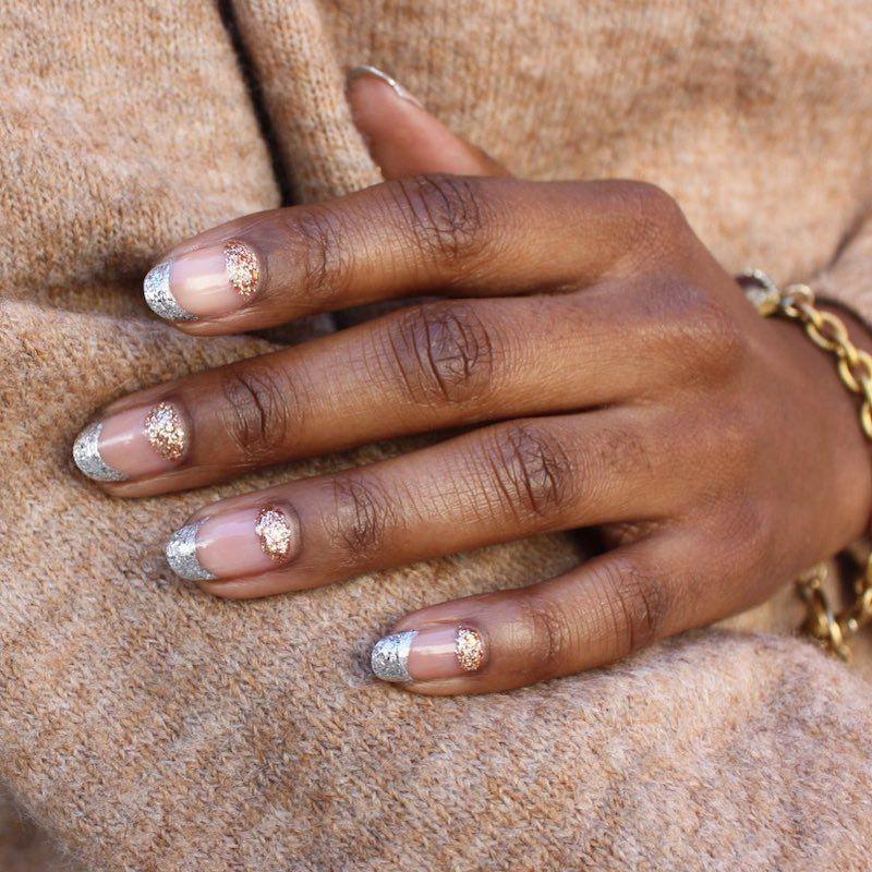 Simple Nail Designs Glitter