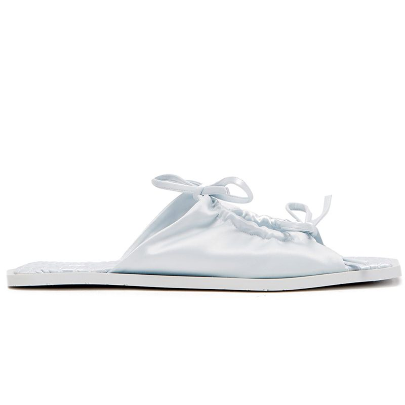 Adele Bow-Tie Satin Sandals