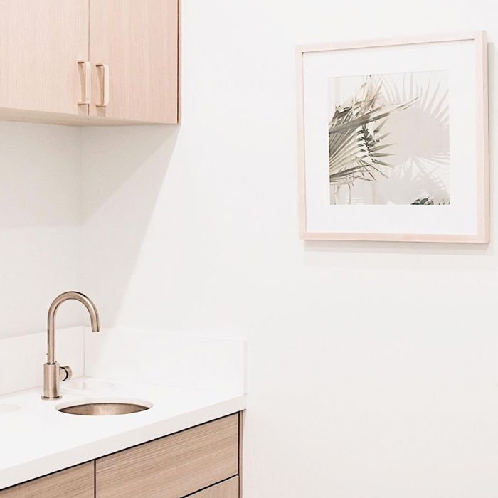 white doctor's office with sink
