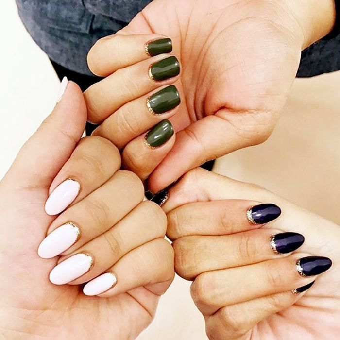 Freshly manicured sets of nails