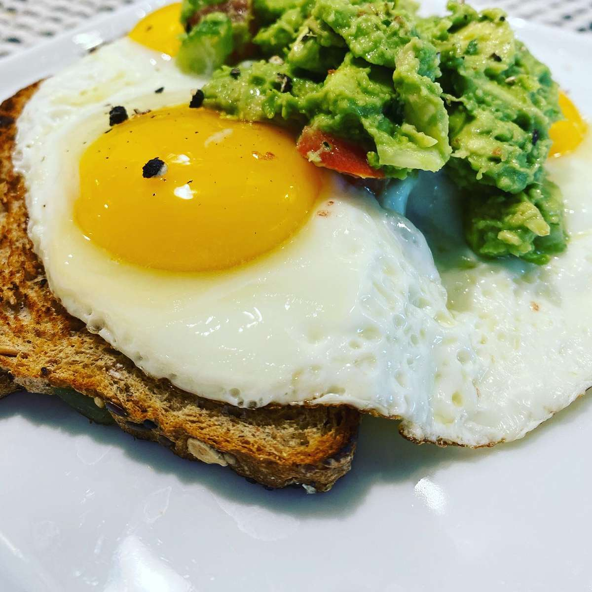 Runny Egg Toast + Avo