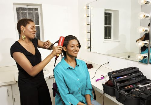Make sure you don't flat iron your hair too often to avoid damage.