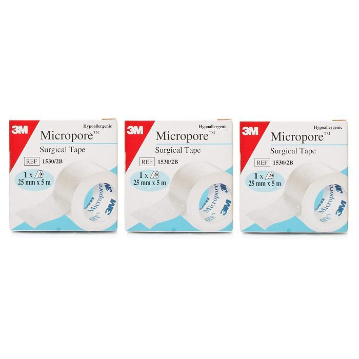 Micropore Surgical Tape (Pack of 3)