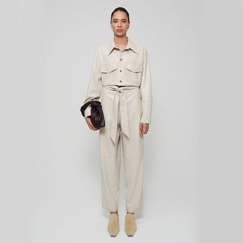 Vegan Leather Jumpsuit ($725)
