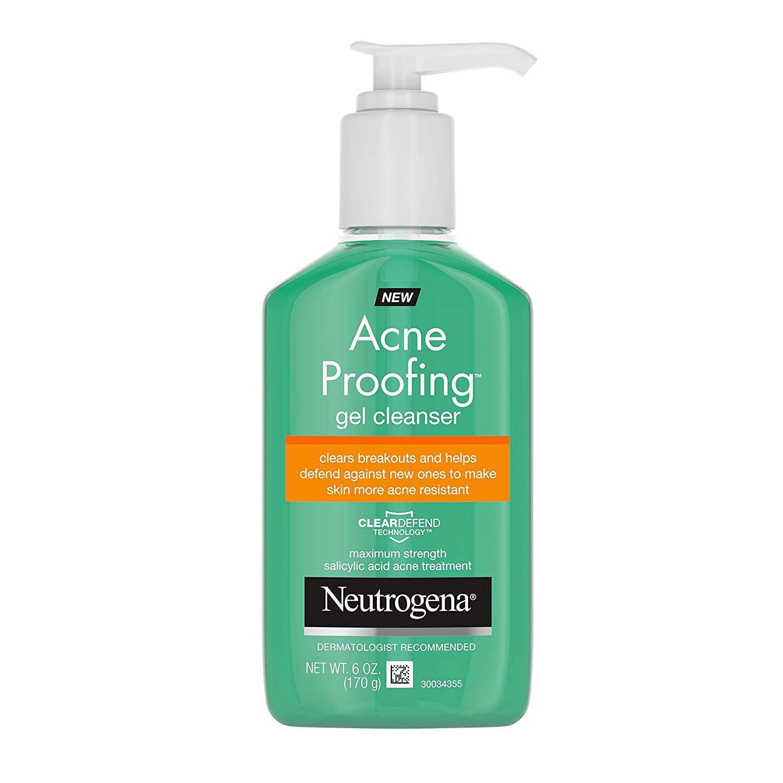 Neutrogena Acne Proofing Gel Cleanser Bottle
