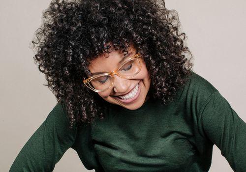 woman wearing Zak. glasses