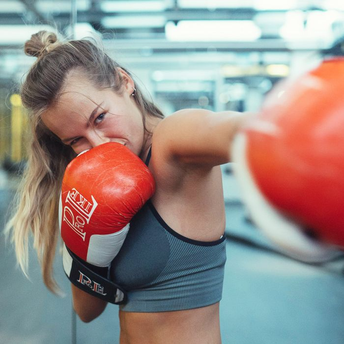 Emma Louise Connolly interview: Emma in a boxing gym