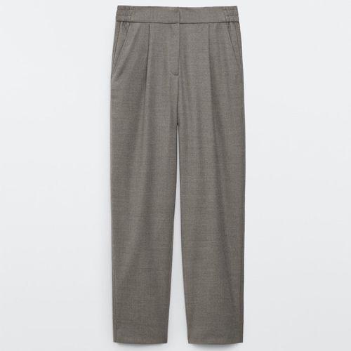 Massimo Dutti Flannel Jogging-Fit Trousers