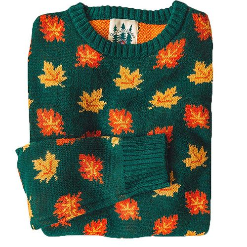 The Big Cozy Fall Leaf Sweater ($128)