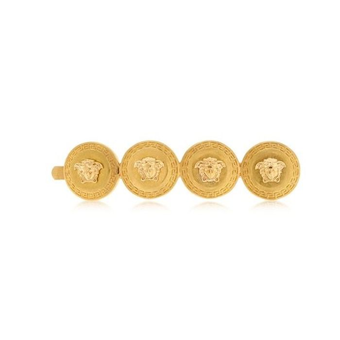 Versace Gold Medusa Coins Hair Pin