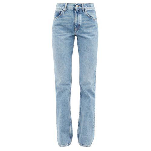 The Attico High-Rise Straight-Leg Jeans