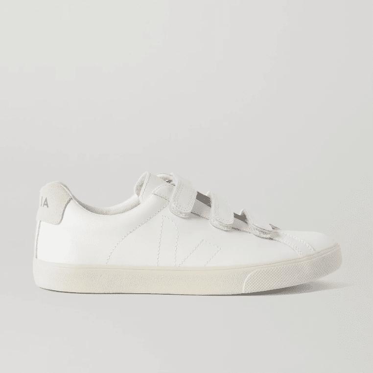 Veja 3-Lock Logo Suede-Trimmed Leather Sneakers