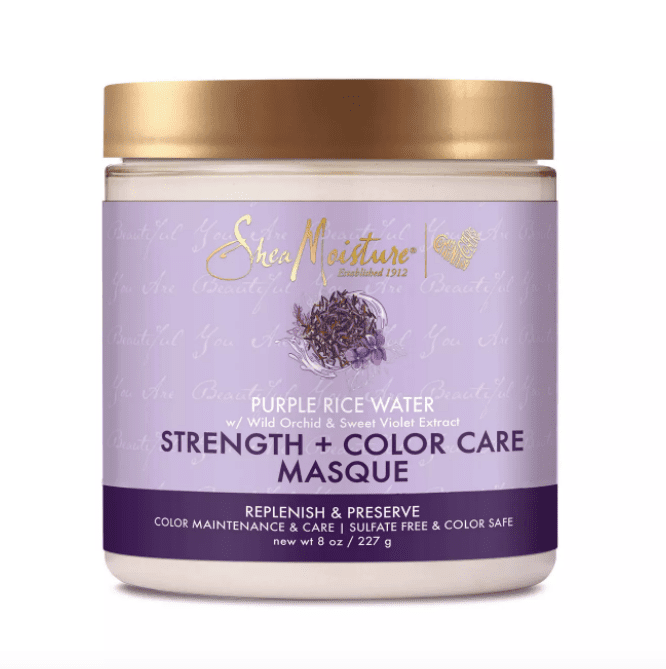 SheaMoisture Purple Rice Water Strength + Color Hair Masque