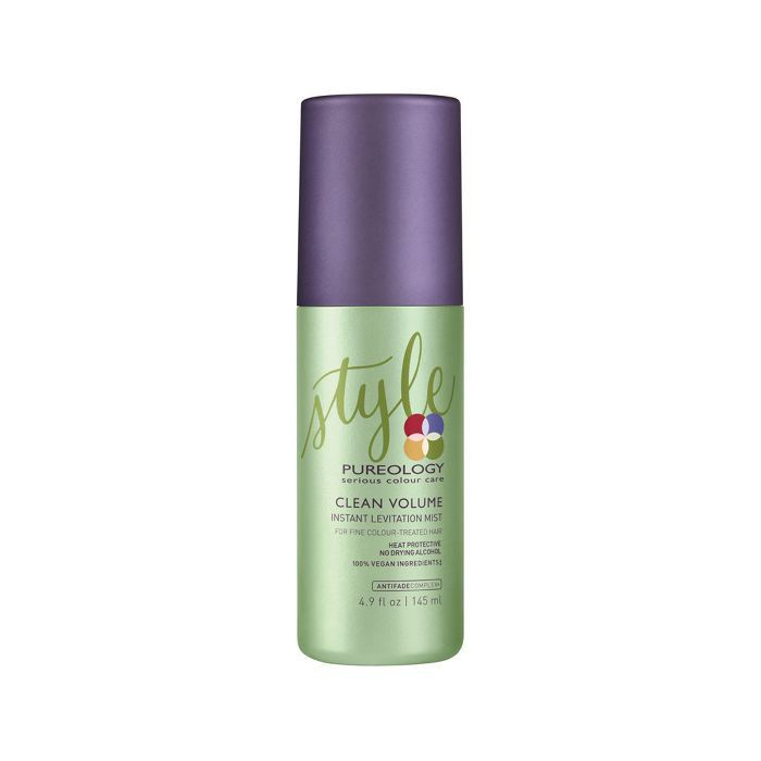 curly hair routine: Pureology Clean Volume Levitation Mist