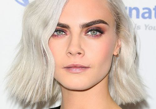 Cara Delevingne Side Part - Hairstyle for Thin Hair