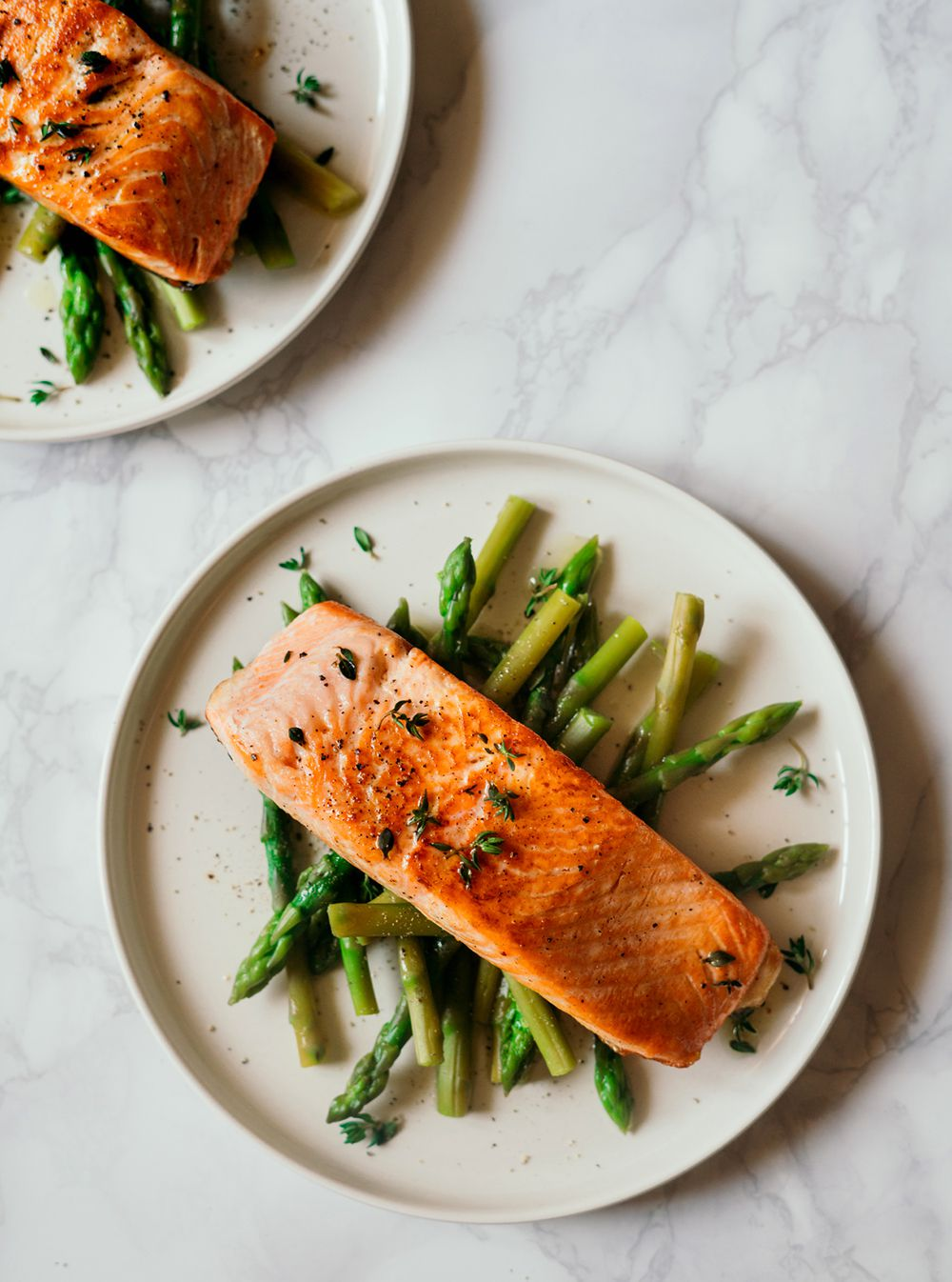 grilled salmon with lemon butter and veggies