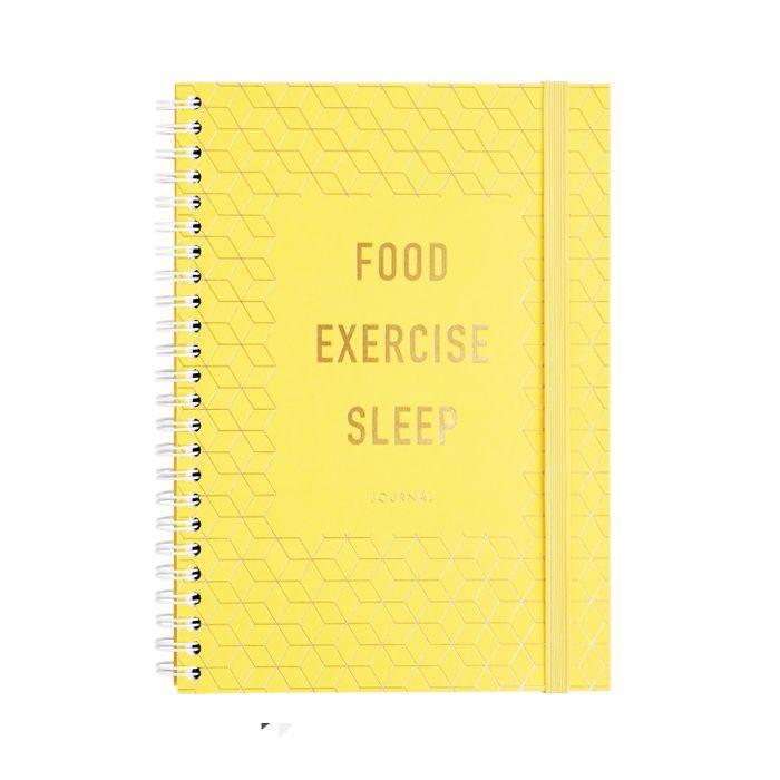 Foods to avoid before bed: Kikki K. Food Exercise Sleep Journal