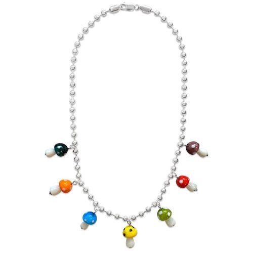 Omnis Studio The Mushroom Charm Chain Necklace