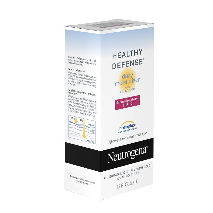 Neutrogena Healthy Defense Daily Moisturizer SPF 50 With Helioplex