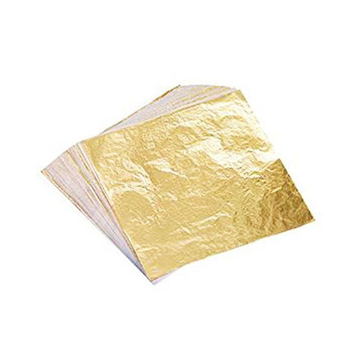 Haris metallic hair bar review: Bememo Imitation Gold Leaf Sheets