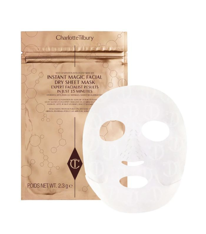 Best brightening face mask: Charlotte Tilbury Revolutionary Instant Magic Facial Dry Sheet Mask