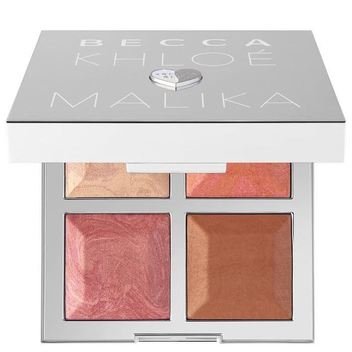 BECCA x Khloé Kardashian & Malika Haqq Bronze, Blush & Glow Palette - Made With Love By Malika