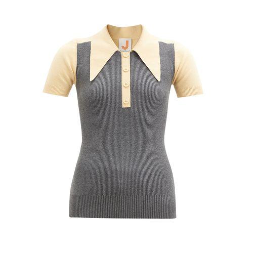 Bi-Color Cotton Blend Polo Shirt ($283)