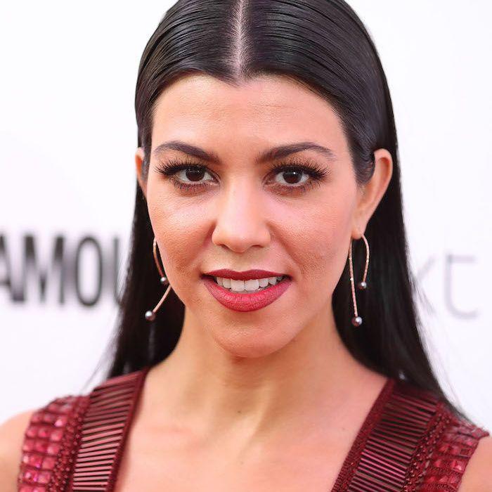 Kourtney Kardashian Red Lipstick