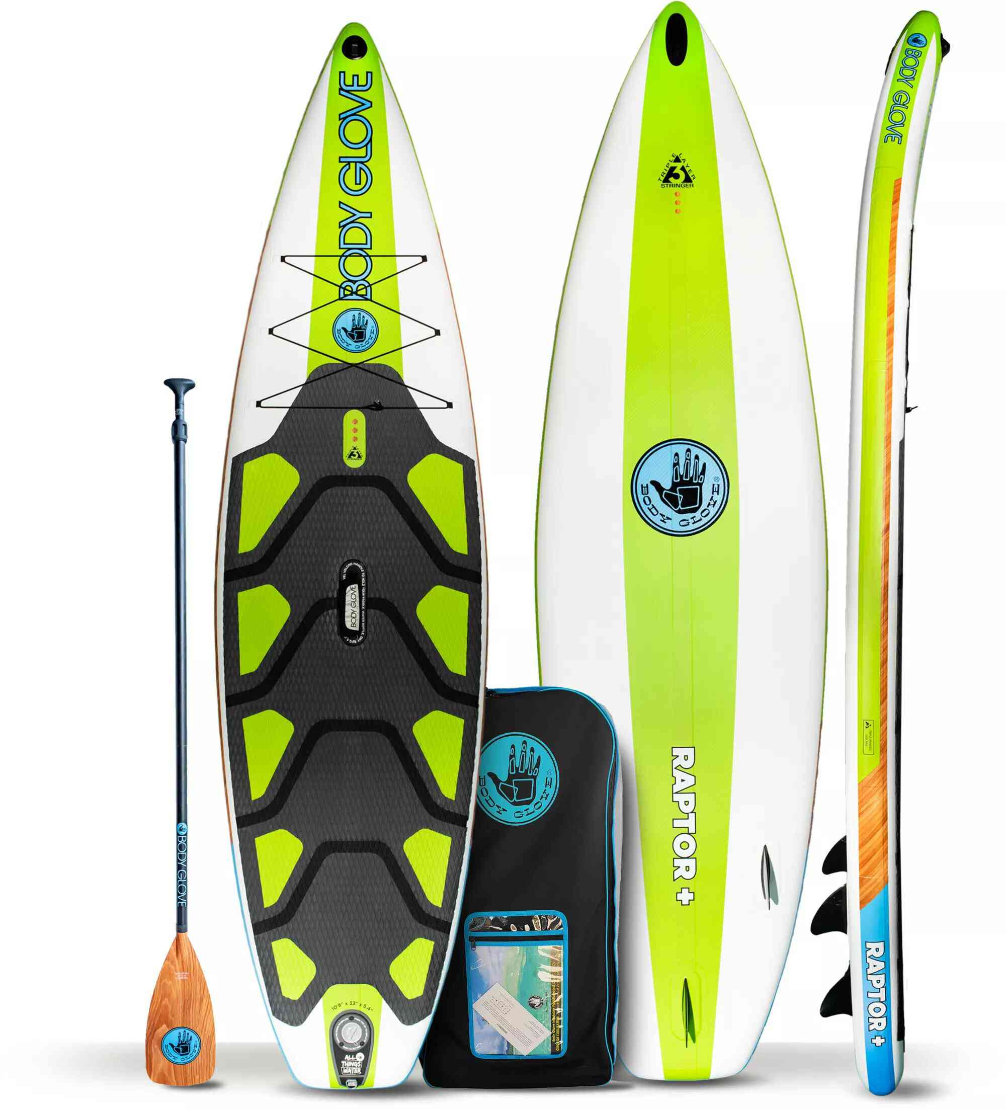 Body Glove Raptor Plus Inflatable Stand-Up Paddle Board With Paddle