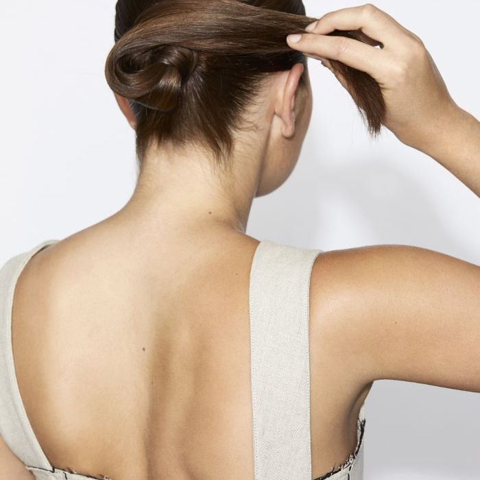 How to Perfect Low Bun Step Three