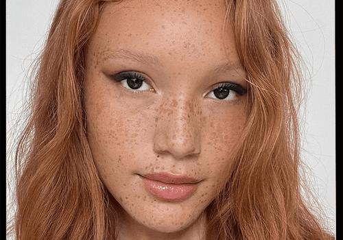 Model wearing eye makeup