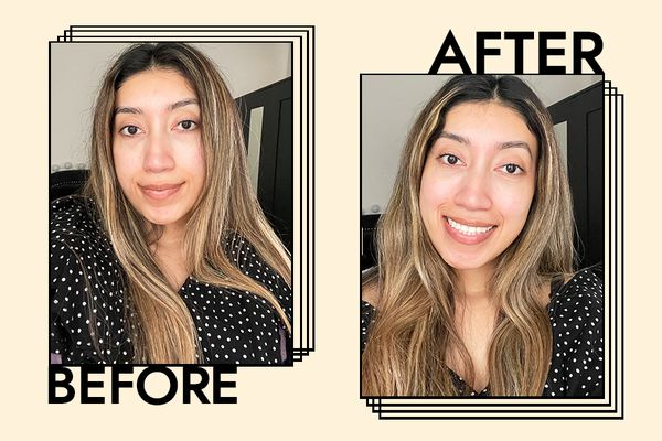 Kora Organics Noni Glow Face Oil Results on Karla Ayala