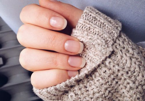 Nails on knit sweater