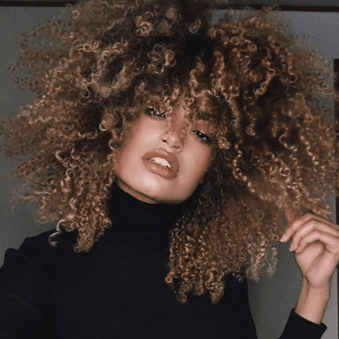 curly balayage hair