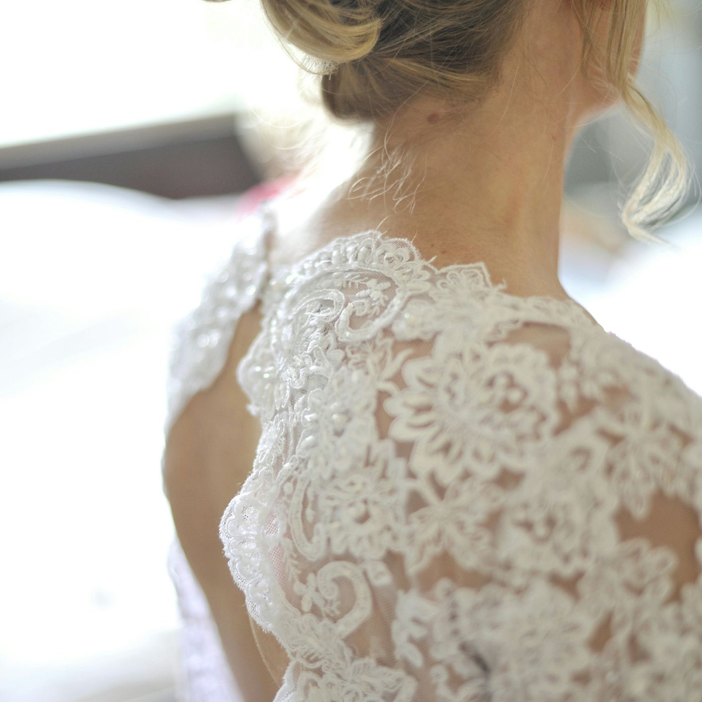 Bride with an updo
