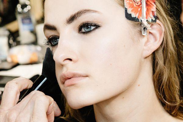 Applying Face Power Milan Fashion Week Philosophy