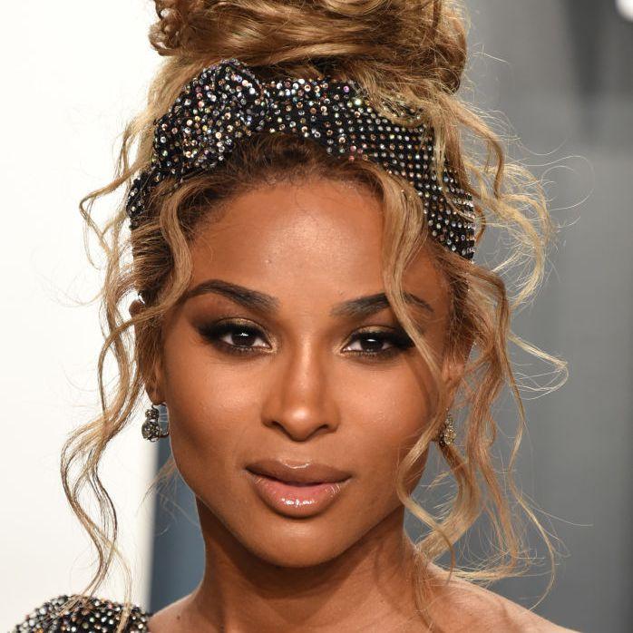 Ciara curly updo with headband